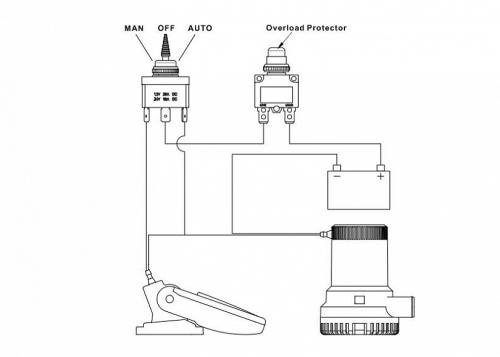 Панель выключателей помпы SeaFlo