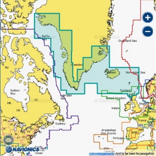 Карта Navionics Гренландия и Исландия