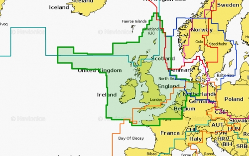 Карта Navionics Ирландия, Великобритания и Голландия