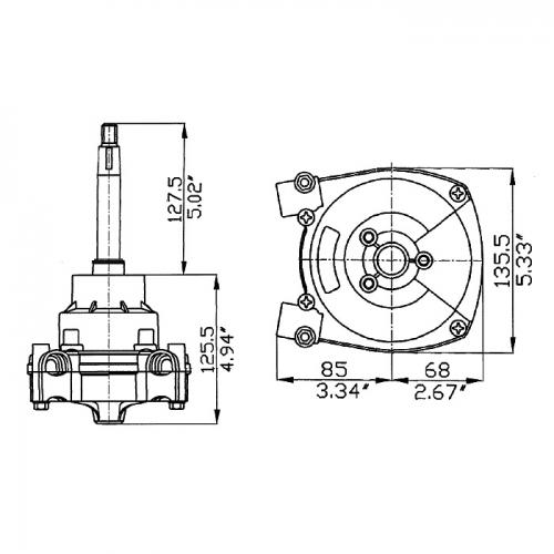 Привод рулевой Ultraflex T-73NRFC невозвратный
