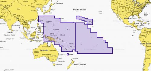 Карта Navionics Тихий океан