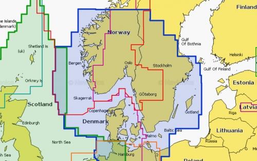 Карта Navionics Скагеррак и Каттегат