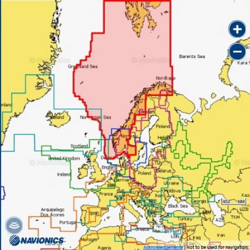 Карта Navionics Норвегия
