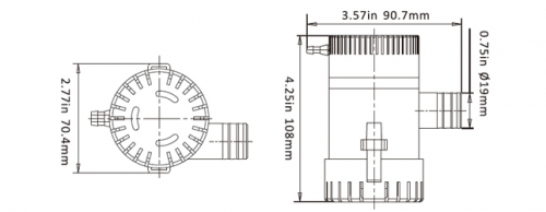 Помпа SeaFlo 12B 750GPH non-auto