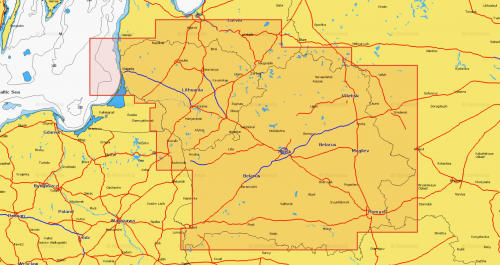 Карта Navionics Белоруссия и Литва, Белорусские озера
