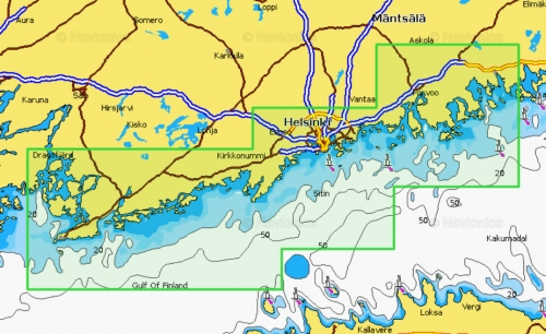 Карта Navionics LOVIISA - VESTLAX