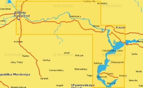 Карта Navionics Н. Новгород - Ульяновск