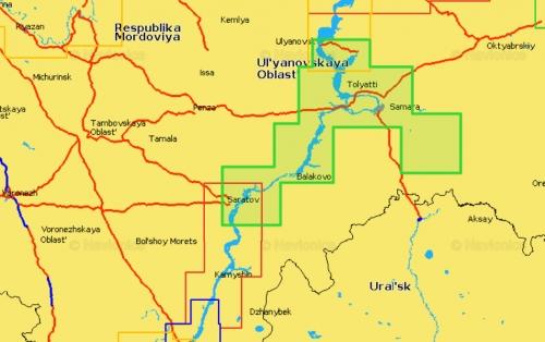 Карта Navionics Ульяновск - Саратов