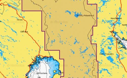 Карта Navionics Озера Финляндии