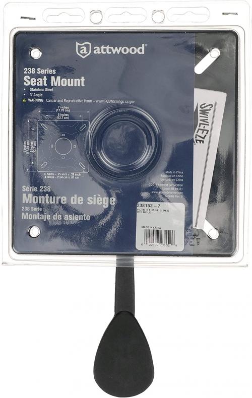 Площадка для сидения Attwood 3 градуса наклон, без слайдера