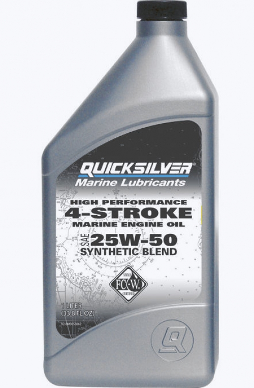 Quicksilver моторное масло 4-cycle 25W50 synthetic blend oil