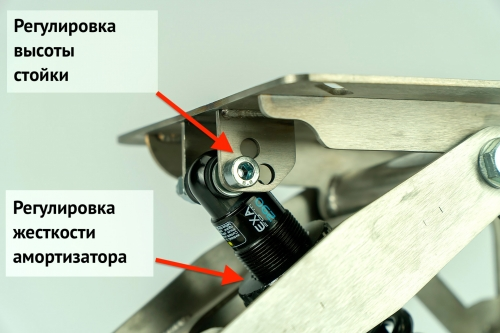 Амортизационная стойка малая Smart Wave Нержавеющая сталь