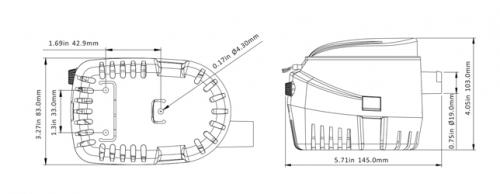 Помпа SeaFlo 12B 2000GPH auto 7750 л/час