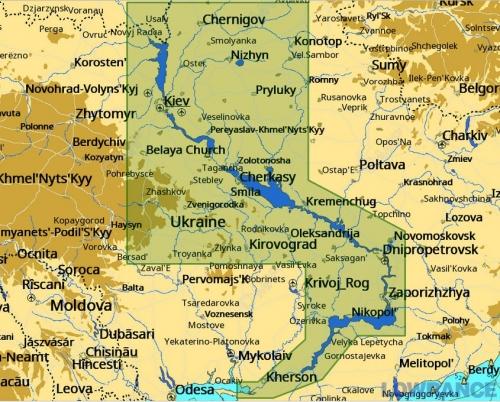 КАРТА C-MAP Река Днепр