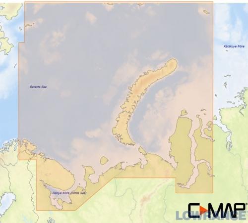 КАРТА C-MAP Северо-Западное побережье России