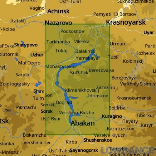 КАРТА C-MAP Красноярское водохранилище