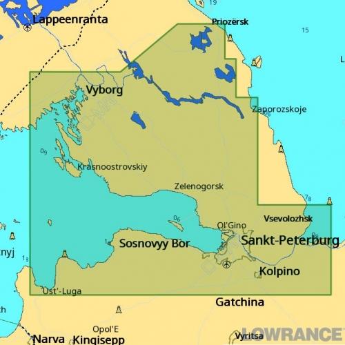 КАРТА C-MAP Финский залив, восток, река Нева и озера Карельского перешейка