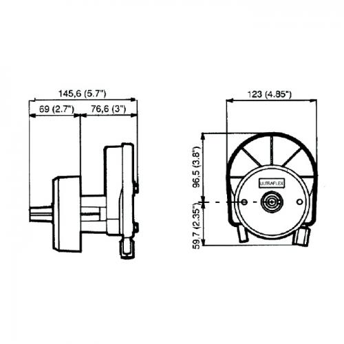 Привод рулевой Ultraflex T-67