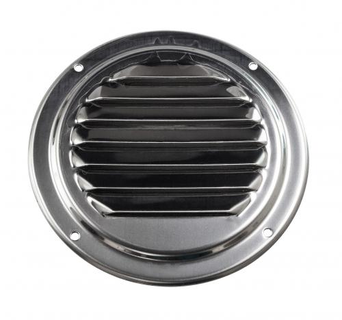 Решетка воздухозаборника круглая 126 мм нержавеющая сталь