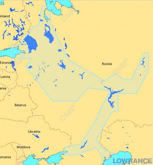 КАРТА C-MAP Внутренние водные пути Европейской части России, Запад