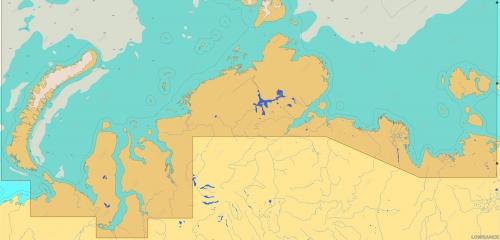 КАРТА C-MAP Северное побережье России: от Новой Земли до Новосибирских о-ов