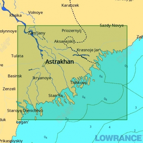 КАРТА C-MAP Река Волга, дельта
