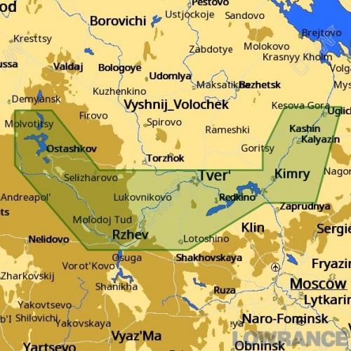 КАРТА C-MAP Тверь - Углич и озеро Селигер
