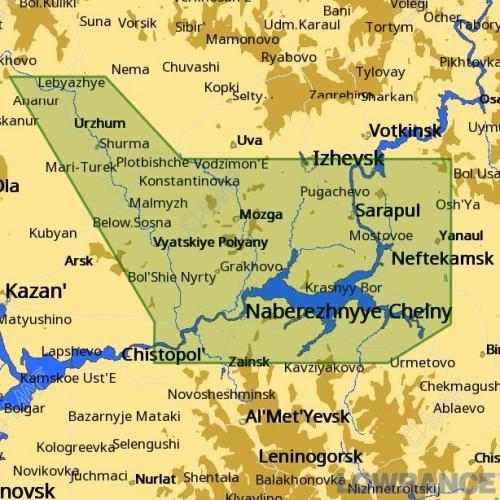 КАРТА C-MAP Низовье реки Камы и Вятка