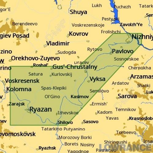 КАРТА C-MAP Низовье реки Оки