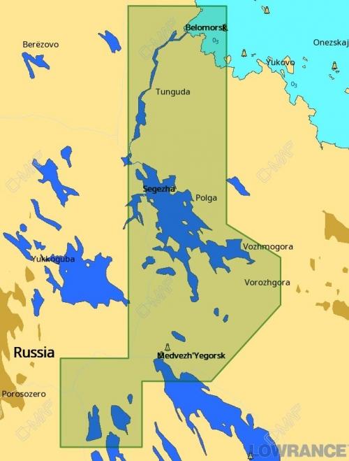 КАРТА C-MAP Беломорско - балтийский канал