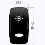 Клавиши с изображением Osculati OVAL для выключателей Marina TOP с подсветкой