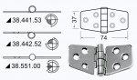 Петля универсальная Osculati 74x37x2мм нержавеющая сталь