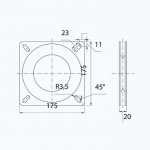 Переходник-основание Easterner для сидений 175х175 мм