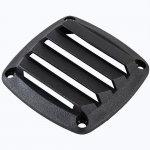 Решетка вентиляционная CIM, 85х85 мм, ABS пластик, черная