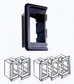 Рамка монтажная для выключателей Osculati CONTURA II концевая, черный пластик