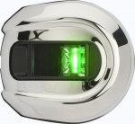 Навигационные огни Attwood LightArmor LED (зеленый) нержавеющая сталь 12В
