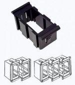 Рамка монтажная для выключателей Osculati CONTURA II промежуточная, черный пластик