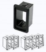 Рамка монтажная для выключателей Osculati CONTURA II одиночная, черный пластик