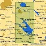КАРТА C-MAP Рыбинское водохранилище, река Шексна и Белое озеро