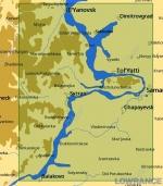 КАРТА C-MAP Река Волга от Ульяновска до Балакова
