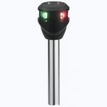 Огонь комбинированный светодиодный Attwood на стойке красный и зеленый