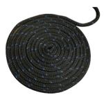 Полипропиленовый канат якорный буксирно-швартовный Attwood двойное плетение черный 3/8